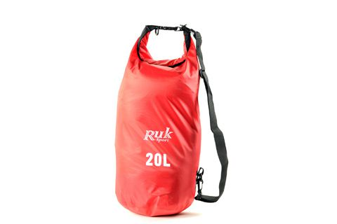 RUK Sports 20L Dry Bag Red With Strap Link